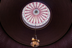 A-chandelier-in-a-staircase-in-Attingham-Park