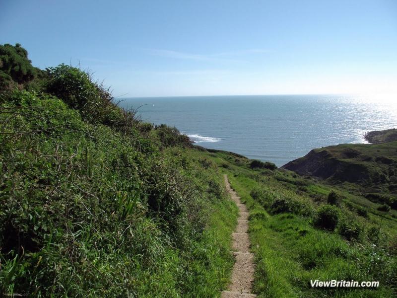 Walking-down-to-Chapmans-Pool-Dorset-England