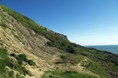 Mudslides-at-Chapmans-Pool-walk-down-the-beach-dorset-england