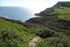 Walk-down-to-Chapmans-Pool-Dorset-England