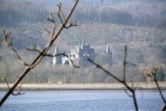 Inveraray-Castle-from-far-away-drive-to-Inveraray-Scotland