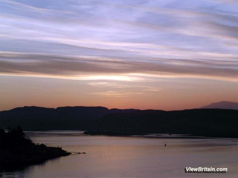 Oban-just-after-sunset-Scotland