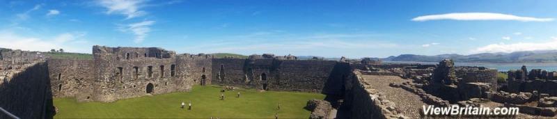 Beaumaris-Castle-Inside-Panorama