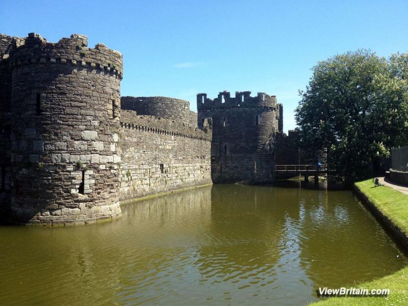 Beaumaris-Castle-Outside-Moat