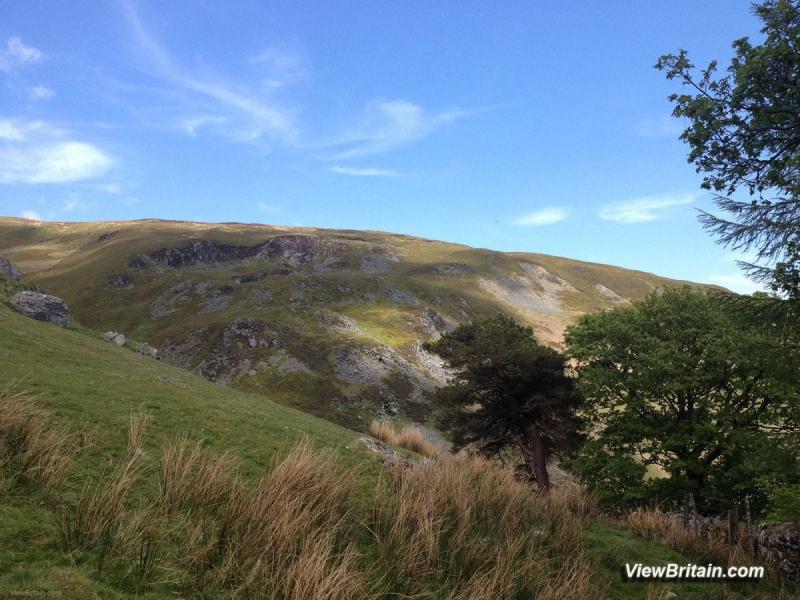 Magnificent-Berwyn-Mountain-Range-near-pistyll-rhaeadr-Powys-Wales