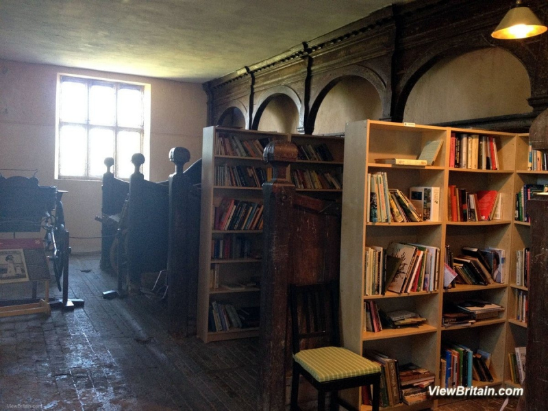 Powis-Castle-Library-and-old-carrying-carts