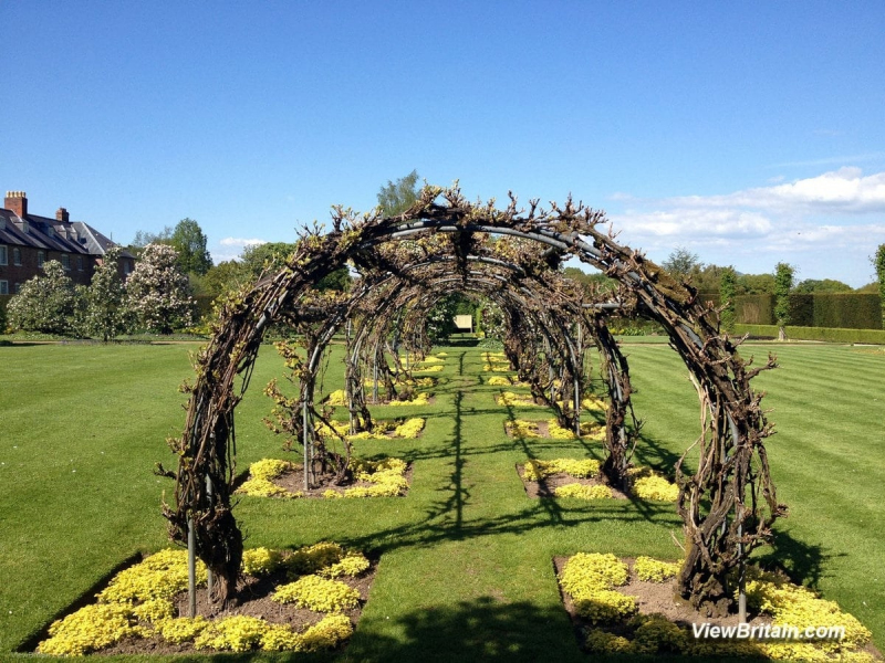 Shrubbery-and-arches-in-Powis-Castle-gardens