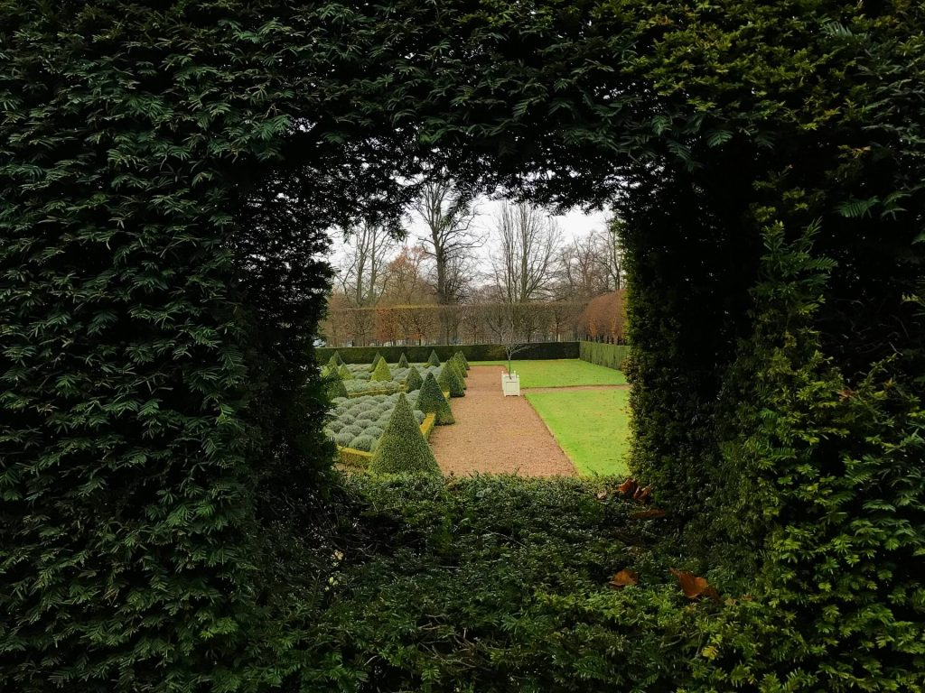 ham-house-gardens-viewing-hole-through-yew-hedges